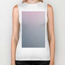WATER WALL - Minimal Plain Soft Mood Color Blend Prints Biker Tank
