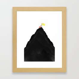 Man & Nature - To The Top Framed Art Print