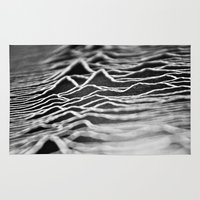 joy division Area & Throw Rugs featuring joy division by Sara Eshak