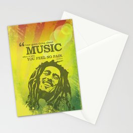 One good thing about music Stationery Cards