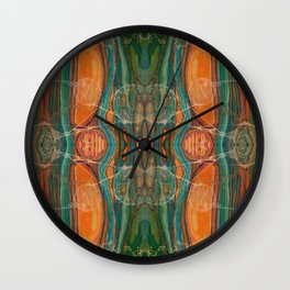 Lively Synapses (Amplified Current) (Reflection) Wall Clock