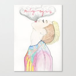 Miley Smokes Canvas Print