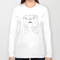 english bulldog Long Sleeve T-shirts featuring The English Bulldog by Alex Lotz