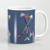 arrows Mugs featuring Arrows by Bridget Davidson