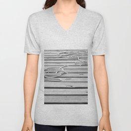 dock, black and white Unisex V-Neck