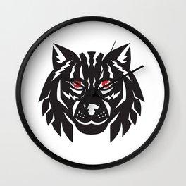 Lynx Cat Head Front Wall Clock