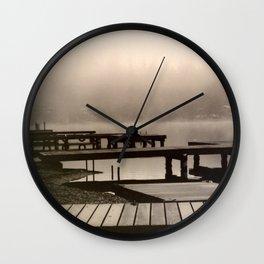 Mason Lake: Beach Front Sepia Wall Clock