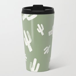 Green Cactus Print Travel Mug
