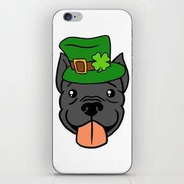 Leprechaun Pitbull - St. Patricks Day iPhone Skin