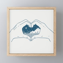 Love Nature Framed Mini Art Print