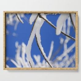 Snow capped branches Serving Tray