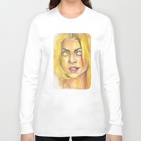 bad wolf Long Sleeve T-shirts featuring Bad Wolf by JenHoney