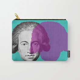 Goethe - teal and purple portrait Carry-All Pouch