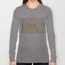 Vintage Map of Bar Harbor Maine (1897) Long Sleeve T-shirt