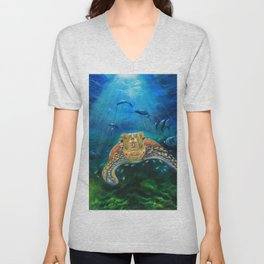 Into the deep Unisex V-Neck