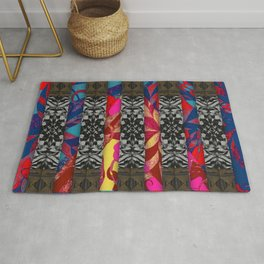 298 multicolored with black gray brown Rug