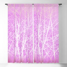Frosted Winter Branches in Misty Pink Blackout Curtain