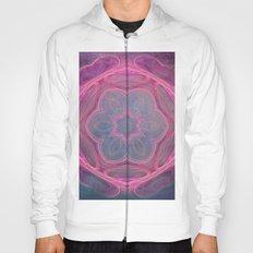 whimsical fractal love in pink Hoody