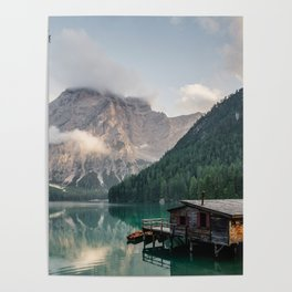 Mountain Lake Cabin Retreat Poster