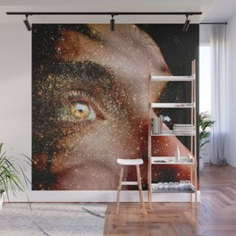 Golden thoughts Wall Mural