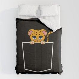 Cheetah In Pocket Cheetah Lover Gift Comforters