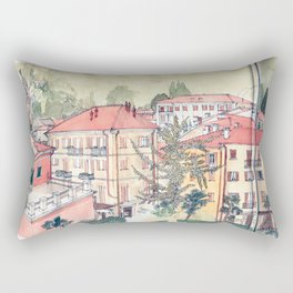Baveno, Lake Maggiore, Northern Italy. Rectangular Pillow