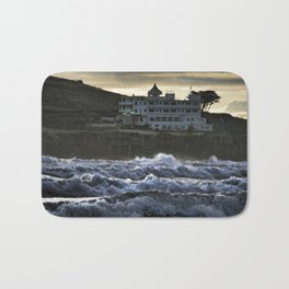Stormy Burgh Island Hotel Bath Mat