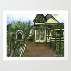 New Hope Train Station Art Print