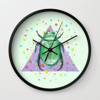 insect Wall Clocks featuring INSECT III by dogooder