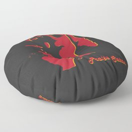 Praise Satan Silhouette Floor Pillow