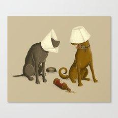 Drunk Dog Canvas Print