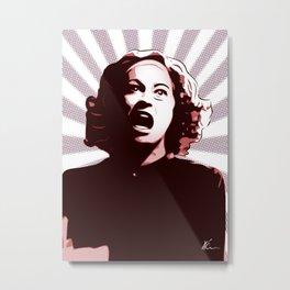 Mommie Dearest | Pop Art Metal Print