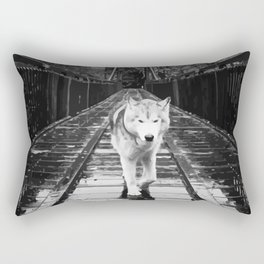 Bridge Wolf Rectangular Pillow