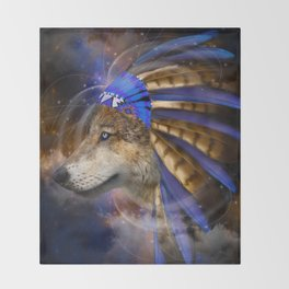 Fight For What You Love (Chief of Dreams: Wolf) Tribe Series Throw Blanket
