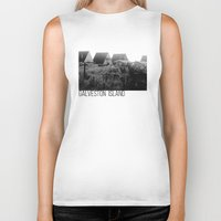 frames Biker Tanks featuring A-Frames (Grayscale) by LUCJPG