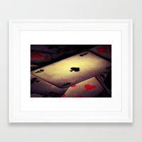 poker Framed Art Prints featuring Poker  by    Amy Anderson