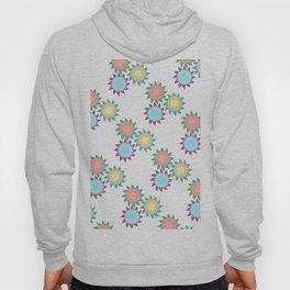 Watercolor Stroke Flower Pattern Hoody