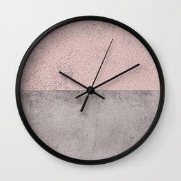 DARK BLUSH GRAY CONCRETE CIRCLE Wall Clock