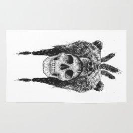 Dead shaman (b&w) Rug