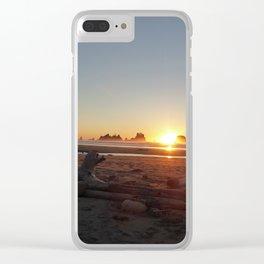Washington Sunset Clear iPhone Case