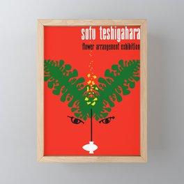 Exhibition Poster Sofu Teshigahara Flower Arrangement Kamekura Framed Mini Art Print