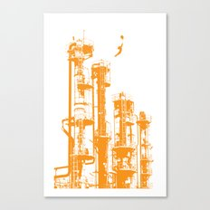 Factory Jump (orange) Canvas Print