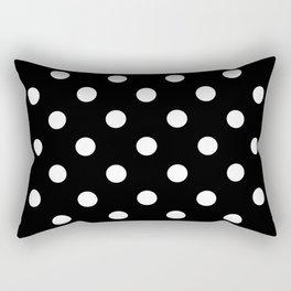 Black Polka Dots Palm Beach Preppy Rectangular Pillow