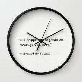 Honore de Balzac Wall Clock
