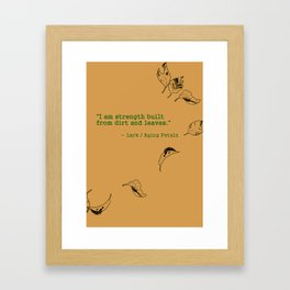 I Am Strength Framed Art Print