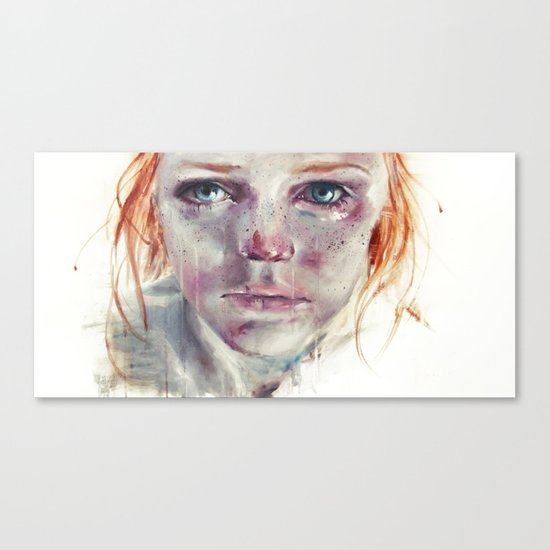 my eyes refuse to accept passive tears Canvas Print