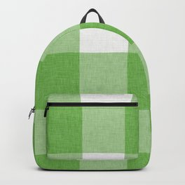 Green and White Buffalo Plaid Backpack