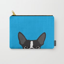 Boston Terrier Blue Carry-All Pouch