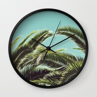 palms Wall Clocks featuring Palms by Lawson Images