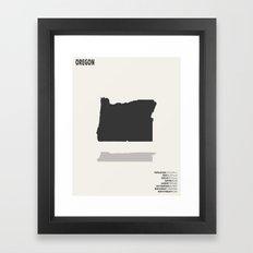 Oregon Map Framed Art Print